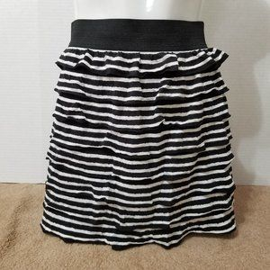 Fire Los Angeles skirt Medium striped ruffle mini